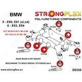 Strongflex achterste differentieel rubber E60/E61, E63/E64, X5 E53 - Red_