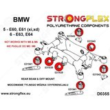 Strongflex achterste subframe rubber E60/E61, E63/E64 - Yellow_