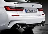 M Performance diffuser inzet zwart - BMW G20_