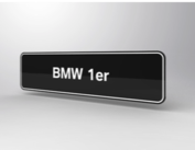 BMW 1er Showroomplaten