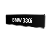 BMW 330i Showroomplaten