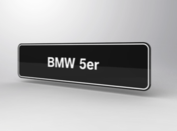 BMW 525i Showroomplaten