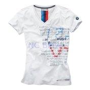 T-shirt dames Motorsport wit maat L