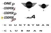 MINI Sierschrift 'Cooper SD' Piano Black (F54,F55,F56,F57,F60)
