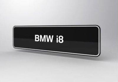 BMW i8 Showroomplaten