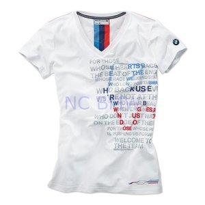 T-shirt dames Motorsport wit maat M