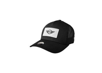 MINI Logo Patch Trucker Cap Zwart