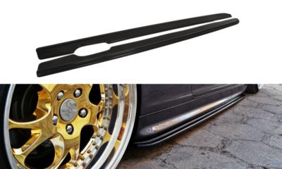 Sideblades hoogglans zwart E46 coupe cabrio