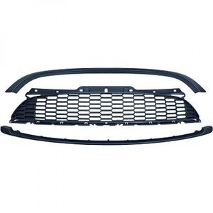 Grill JCW-look mat zwart (R55 R56 R57)