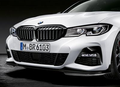 M Performance Frontspoiler zwart - BMW G20