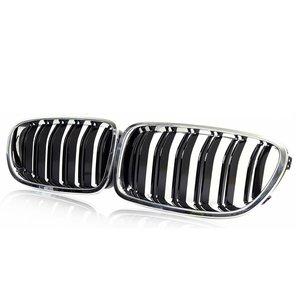 Dubbelspaak grille chroom / zwart F01 F02